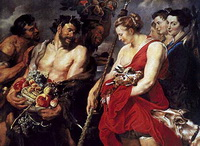 Возвращение Дианы с охоты (П.П. Рубенс, 1615 г.)