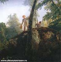 Камень в лесу у Разлива. 1850