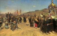 Крестный ход в Курской губернии (И.Е. Репин)