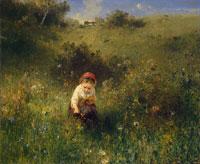 Девочка в поле (Людвиг Кнаус)