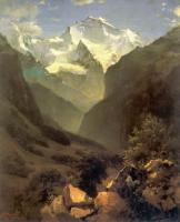 Вид в Швейцарских Альпах из Интерлакена. 1862