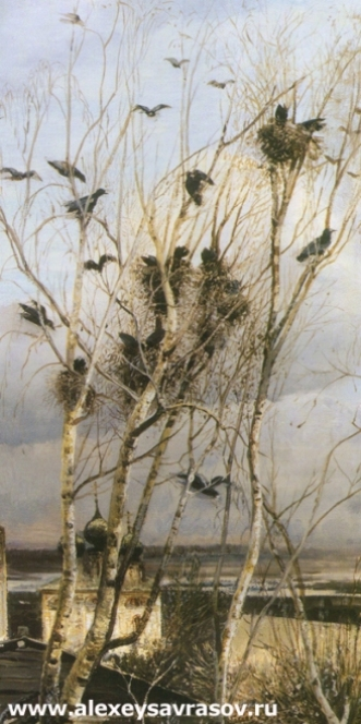 Грачи прилетели. 1871 Фрагмент