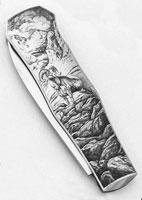 Гравировка на ручке ножа (Стив Дж. Линдсей)
