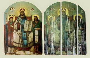 Икона до и после реставрации