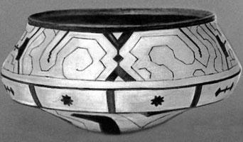 Керамическая расписная чаша (Индейцы Пано)