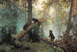 Утро в сосновом лесу (Иван Шишкин)
