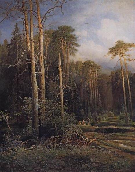 Дорога в лесу. 1871