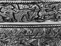Резьба на повозке из Осеберга (9 век)
