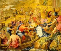Сюжет Похищение Елены на гобелене (XVII век)