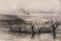 Пейзаж. Село Волынское. 1887