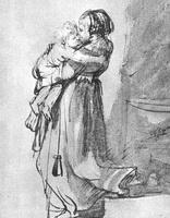 Саския с ребенком (Рембрандт, 1636 г.)