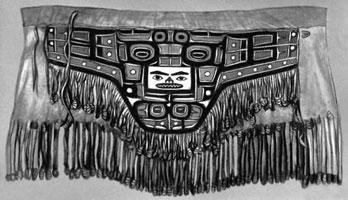 Кожаный расписной передник шамана (Индейцы Чилкаты)