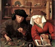 "Картина 17-го века ""Менялы"""