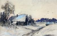 Деревня зимой. 1880-1890-е