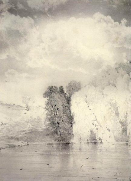 Деревья у озера. 1868