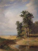 Летний пейзаж с дубами.Середина 1850-х
