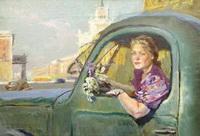 Женщина за рулем (В.И. Поляков)