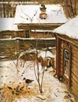 Дворик. Зима.1870-е