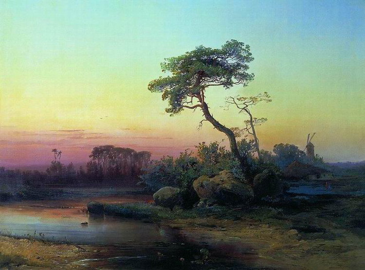 Пейзаж с сосной.1854