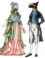 Костюм 1800-1825 годов. Стиль ампир